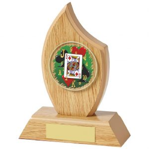 Hand of Cards Trophy 14cms