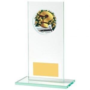 Jade Glass Quiz Trophy