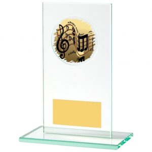 Jade Glass Music Trophy