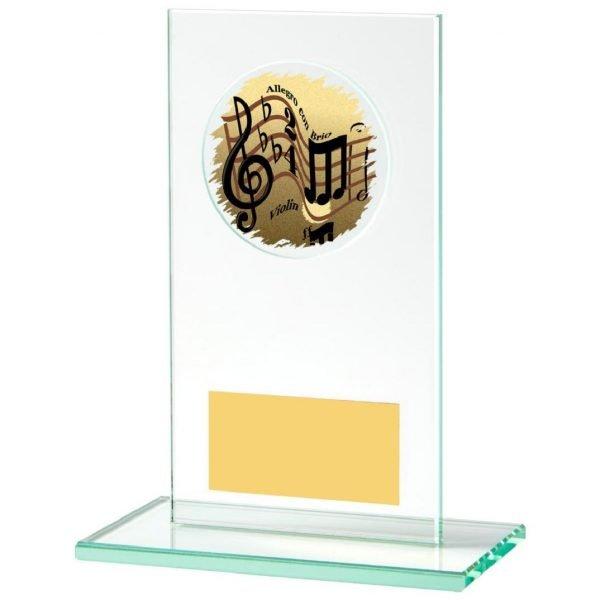 Jade Glass Music Trophy