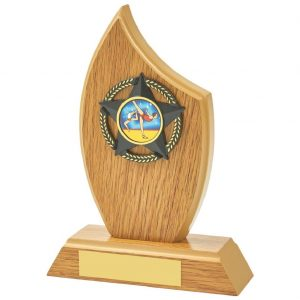 Gymnastics Sail Shaped Trophy