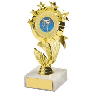 Multi Star Dancing Trophy 13.5cms