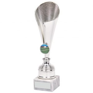 Tennis Fluted Trophy Cup. First of all this is a great choice to present as a winner, runner up or competitors trophy.