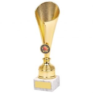 ricket Fluted Cup Trophy. First of all this is a great choice to present as a winner, runner up or competitors trophy