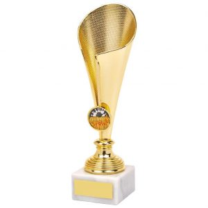10 Pin Bowling Fluted Trophy