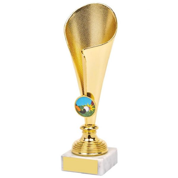 Gilt Fluted Trophy Cup A low priced modern cup range suited for any presentation or awards ceremony