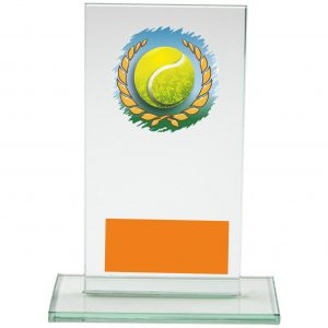 Flyball glass trophy
