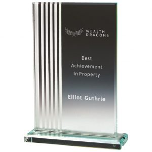Glass Attainment Trophy 21cms