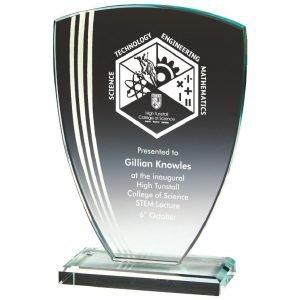 Glass Presentation Trophy 17.5cms