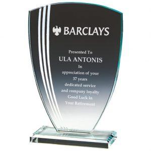 Glass Presentation Trophy 19.5cms