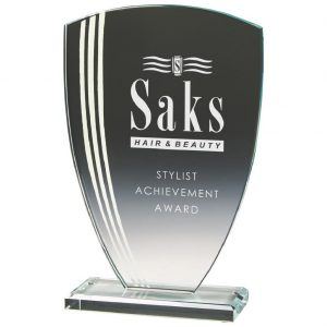 Glass Development Trophy 12cms
