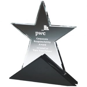 Achievement Star Glass Trophies