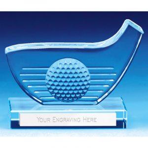 Longest Drive glass Trophy