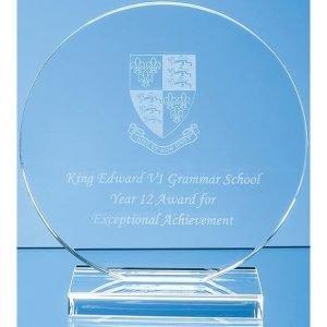 Glass Circle Award 20cms