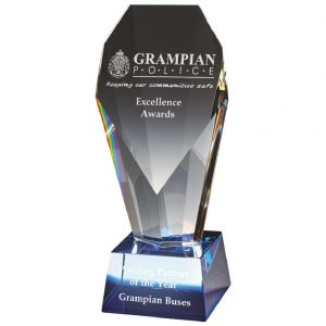 Excellence Glass Trophy 19cms