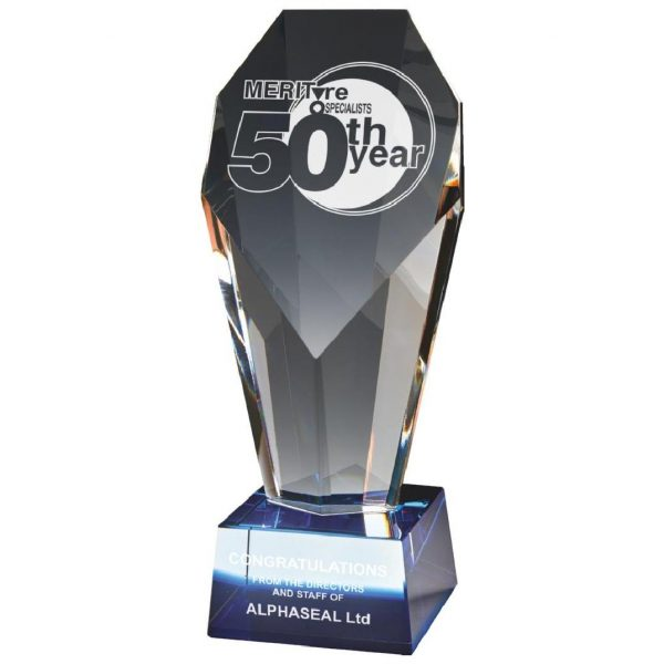 Excellence Glass Trophy 23.5cms