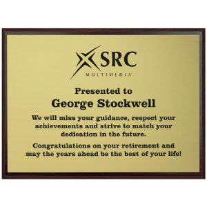 Presentation Wall Plaque Landscape
