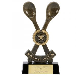 Wooden Spoon Trophy 16.5cms