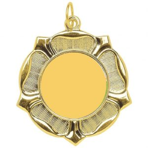 standard 50mm BLANK Medal Gilt. Above all, this is an ideal medal for all personalised activity centres.