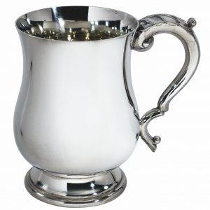 Georgian Pewter Pint Tankard. A personalised pewter tankard would make the perfect recognition or achievement award.