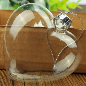 Heart Shaped Glass Bauble. A perfect present, gift or memorial. High quality glass etching is available on the product for a small extra charge