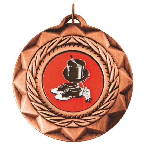 Buy today standard Quality Dancing Medal 50mm. Above all, this is an ideal medal for all winners, runners up and competitors