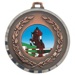Embossed Horse Medal 50mm
