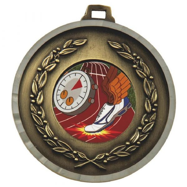 Embossed Athletics Medal 50mm. Above all, this is an ideal medal for all athletes who are winners, runners up and competitors.