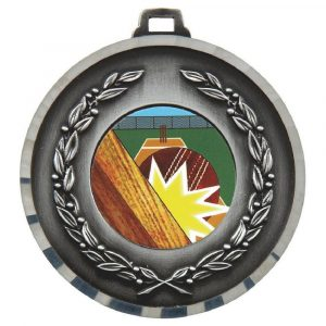 Embossed Cricket Medal 50mm