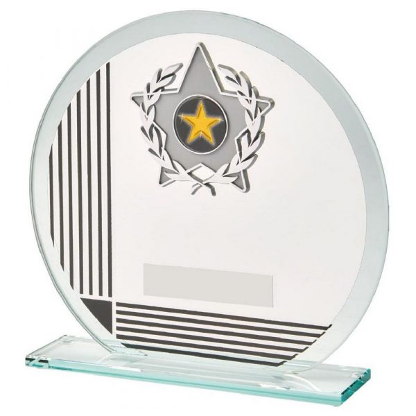 Glass Multi-Sports Trophy 17cms. A low priced sports trophy and great for recognising any winner, runner up or participant