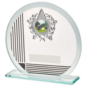 Glass MultiSports Trophy 15cms. A low priced sports trophy and great for recognising any winner,