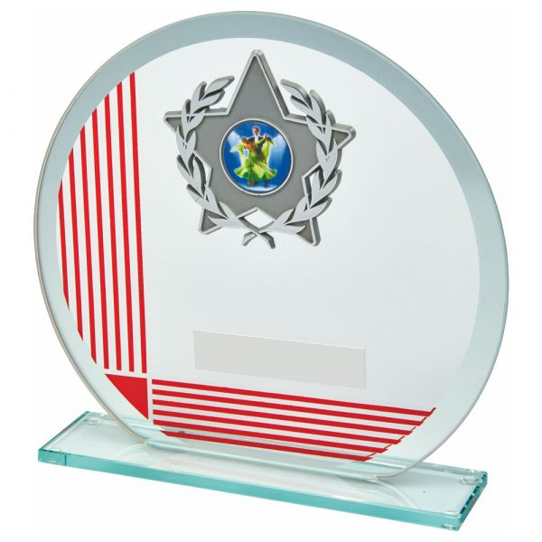 MultiSports Glass Trophy 17cms. A low priced sports trophy and great for recognising any winner, runner up or participant at their chosen sport or pastime