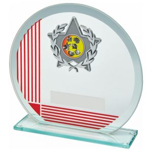 MultiSports Glass Trophy 15cms. A low priced sports trophy and great for recognising any winner, runner up or participant