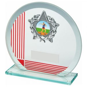 MultiSports Glass Trophy 13cms. A low priced sports trophy and great for recognising any winner, runner up