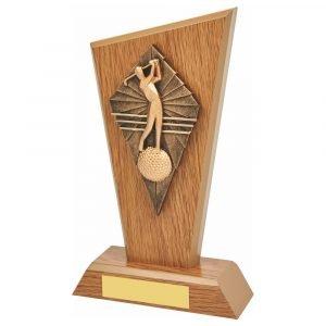 Golfer Wood Trophy 20cms.