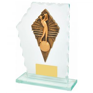 Scalloped Golf Trophy 18cms