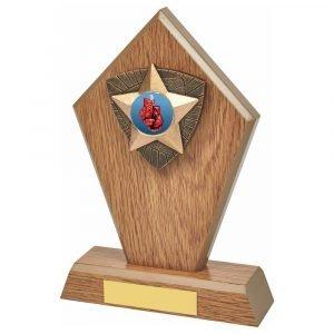 Boxing Wood Effect Trophy