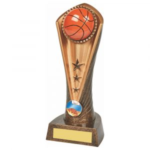 Basketball Column Trophy 21cms