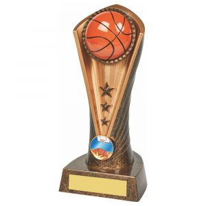 Basketball Column Trophy 19cms