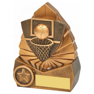 Basketball Scene Trophy 12cms