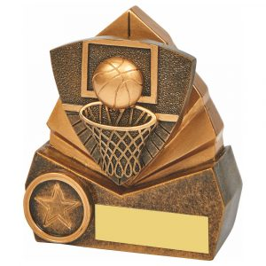 Basketball Scene Trophy 10cms