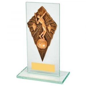 Tennis Glass Trophy 16cms