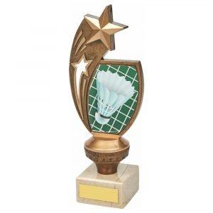 Badminton Trophy 21cms