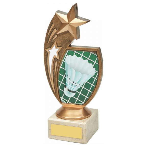 Badminton Trophy 18cms