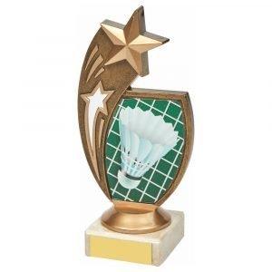 Badminton Trophy 17cms