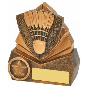 Badminton Trophy 3D 10cms