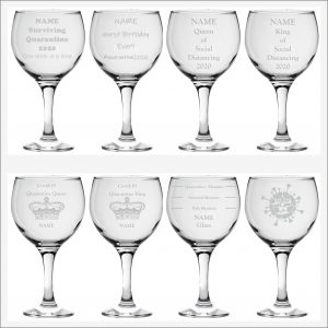 Souvenir Coronavirus Balloon Glass