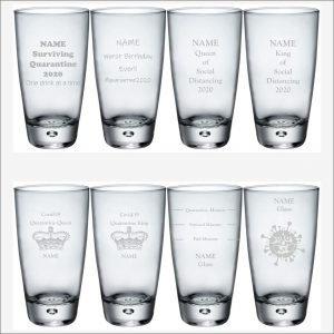 Souvenir Coronavirus HiBall Glass