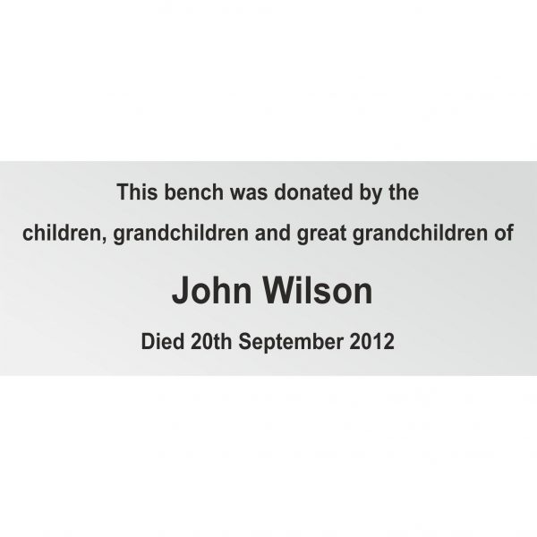 Memorial Bench Plaques Engraved