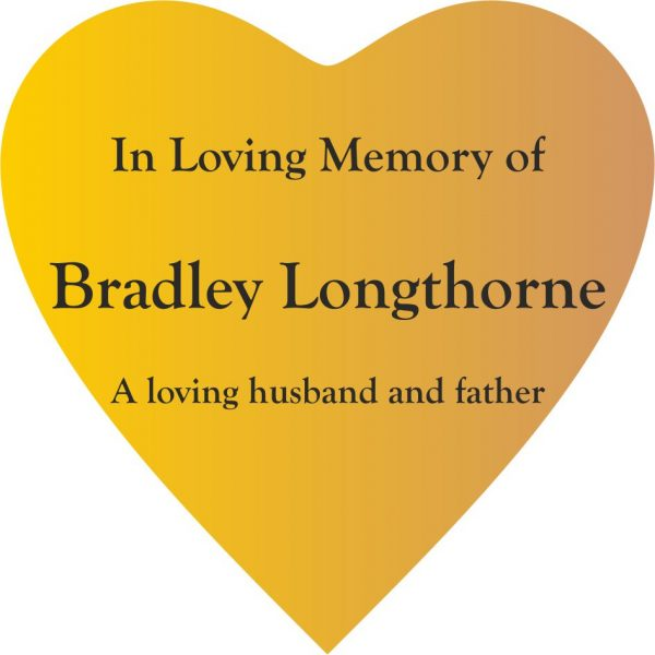 Heart Memorial Plaques Engraved